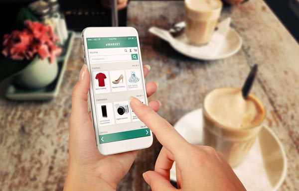 Business shopping on mobile